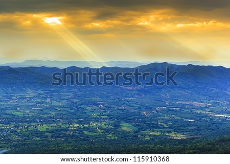 Beautiful summer landscape in the mountains.sunset