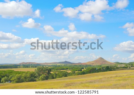 Beautiful summer landscape with mountain