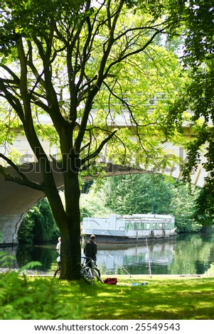 Beautiful summer park in Berlin. Germany