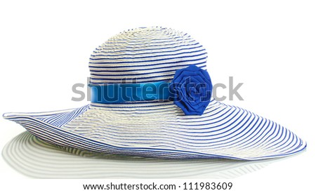 Beautiful summer woman hat isolated on white background