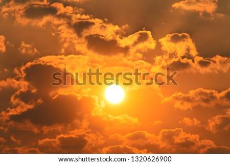 Beautiful sun and beautiful clouds and beautiful sky