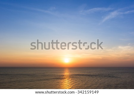 Beautiful sun rise at beach. #342159149