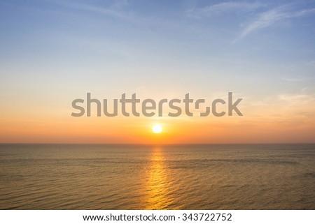 Beautiful sun rise at beach. #343722752