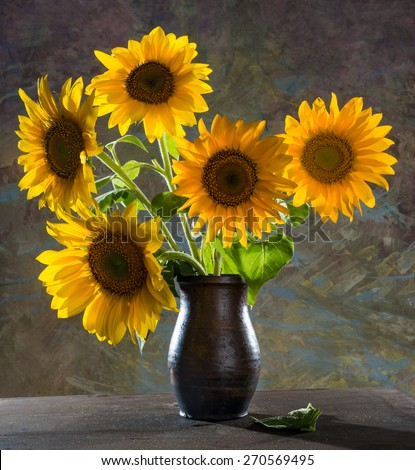 Free Photos Sunflowers In A Vase Avopix