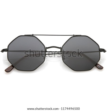 Beautiful sunglasses for men and woman closeup isolated on white background #1174496500