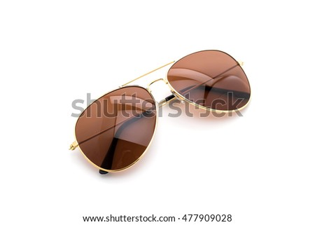 beautiful sunglasses on white background #477909028