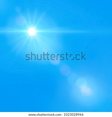 Beautiful sunlight in the clear blue sky #1023028966