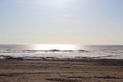 Beautiful sunny day on the winter beach
