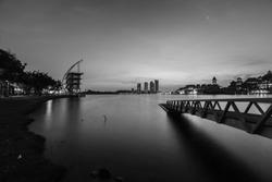 beautiful sunrise at Pullman Putrajaya Lakeside