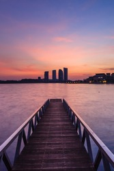 beautiful sunrise at Pullman Putrajaya Lakeside