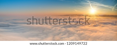 Beautiful sunrise background with lots of copy space.