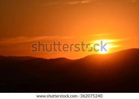 Beautiful sunrise in spring season #362075240