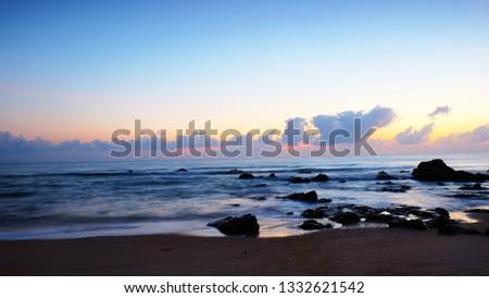 Beautiful sunrise of the beach in Peninsula of Malaysia #1332621542