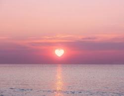Beautiful sunrise on sea background