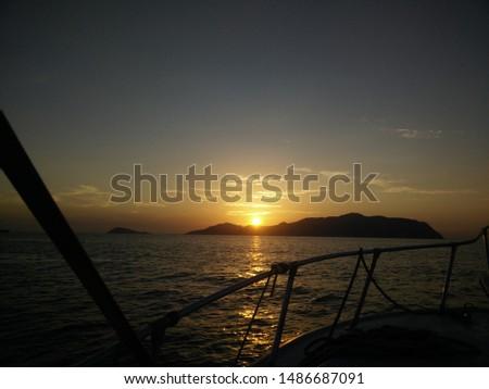 beautiful sunrise on the beautiful sunrise on the beach