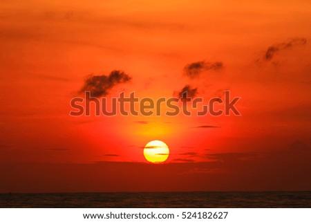 Beautiful sunrise on the sea  #524182627