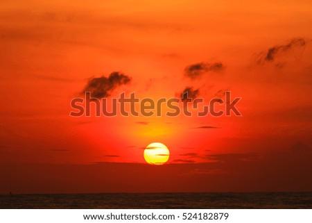 Beautiful sunrise on the sea  #524182879