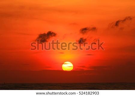 Beautiful sunrise on the sea  #524182903