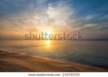 Beautiful sunrise over beach
