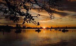 Beautiful Sunrise Over Matilda Bay Perth