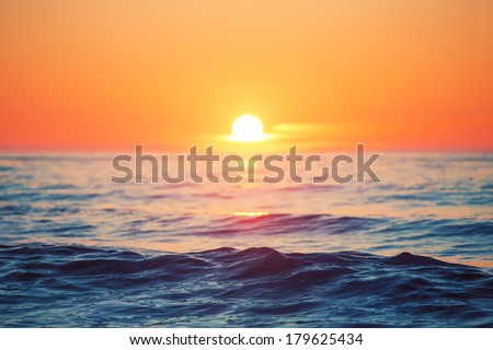 Beautiful sunrise over the horizon, #179625434