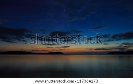 Beautiful sunrise over the sea,Samui,Thailand