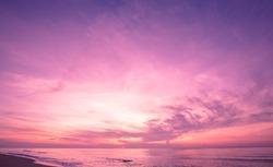 Beautiful sunrise sky in purple filter.