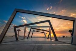 Beautiful Sunrise view at Dammam Al Khobar Corniche Saudi Arabia.