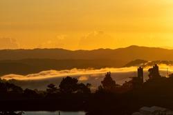 Beautiful Sunrise With Clouds In Dalat, Vietnam
