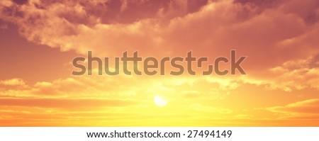 Beautiful sunset #27494149