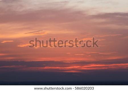 Beautiful sunset  #586020203