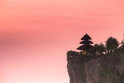 Beautiful sunset at Bali  Indonesia