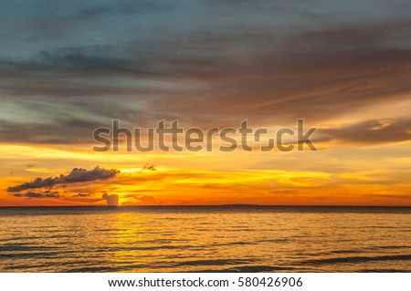 Shutterstock Beautiful sunset at Boracay beach, Philippines.