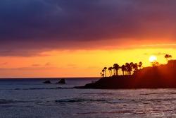 Beautiful Sunset at Laguna Beach, California.