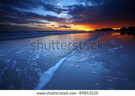 Beautiful sunset at sea. #89853520