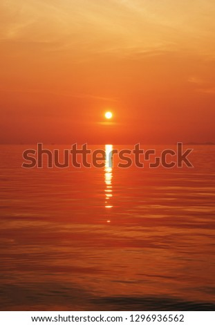 beautiful sunset at the beach in Thailand, Samui - Image #1296936562