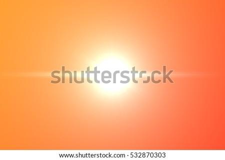Beautiful sunset Digital Lens Flare #532870303
