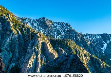 Beautiful Sunset in Salt Lake City, Utah #1076158820