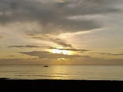beautiful sunset in Sugar Beach, Sipalay, Philippines