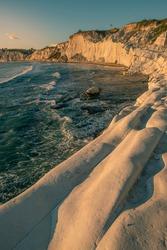 Beautiful Sunset in the Beach of Scala dei Turchi
