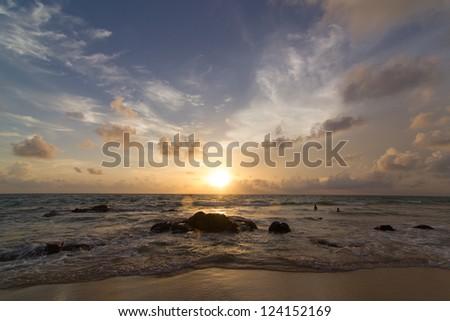 Beautiful sunset of Thailand.