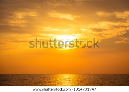 Beautiful sunset on the beach and sea - Vintage Filter #1014731947