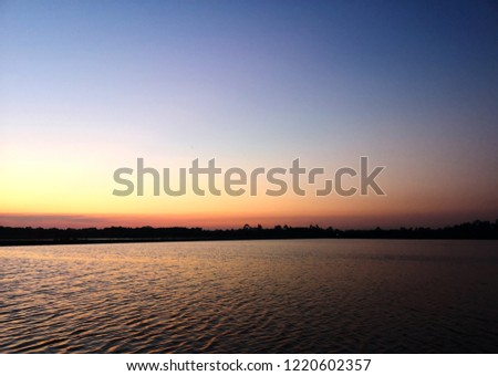 Beautiful sunset on the lake,natural background