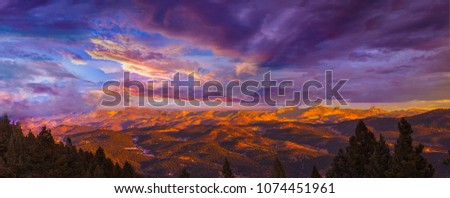 Beautiful Sunset over Evergreen, Colorado #1074451961