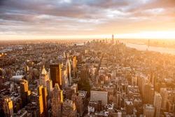 Beautiful sunset over Manhattan