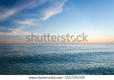 Beautiful sunset over the Black Sea