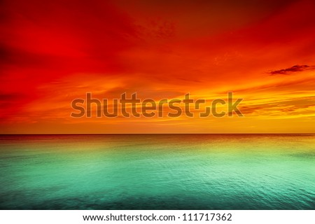 Beautiful sunset over the sea