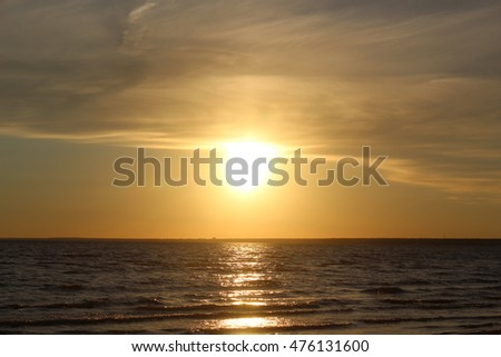 Beautiful sunset over the sea - Shutterstock ID 476131600