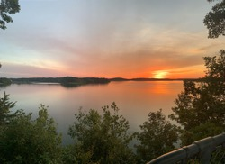 Beautiful sunset over Wappapello Lake in Missouri!