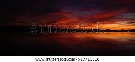 Beautiful sunset panorama #517711318